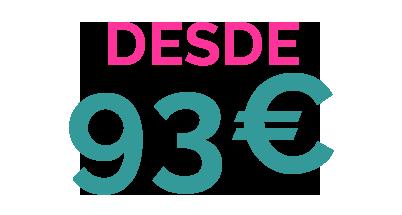 DESDE 93€ PACK 8 ALOJAMIENTO