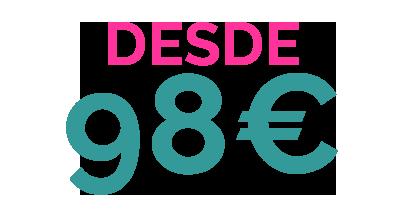 DESDE 98€ PACK 9 ALOJAMIENTO